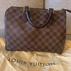 Louis Vuitton Speedy 30 Damier Ebene purse bag